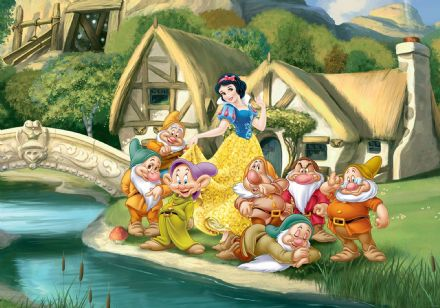 Wall mural Snow White & 7 Dwarfs